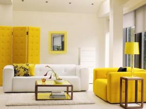 tendance salon jaune