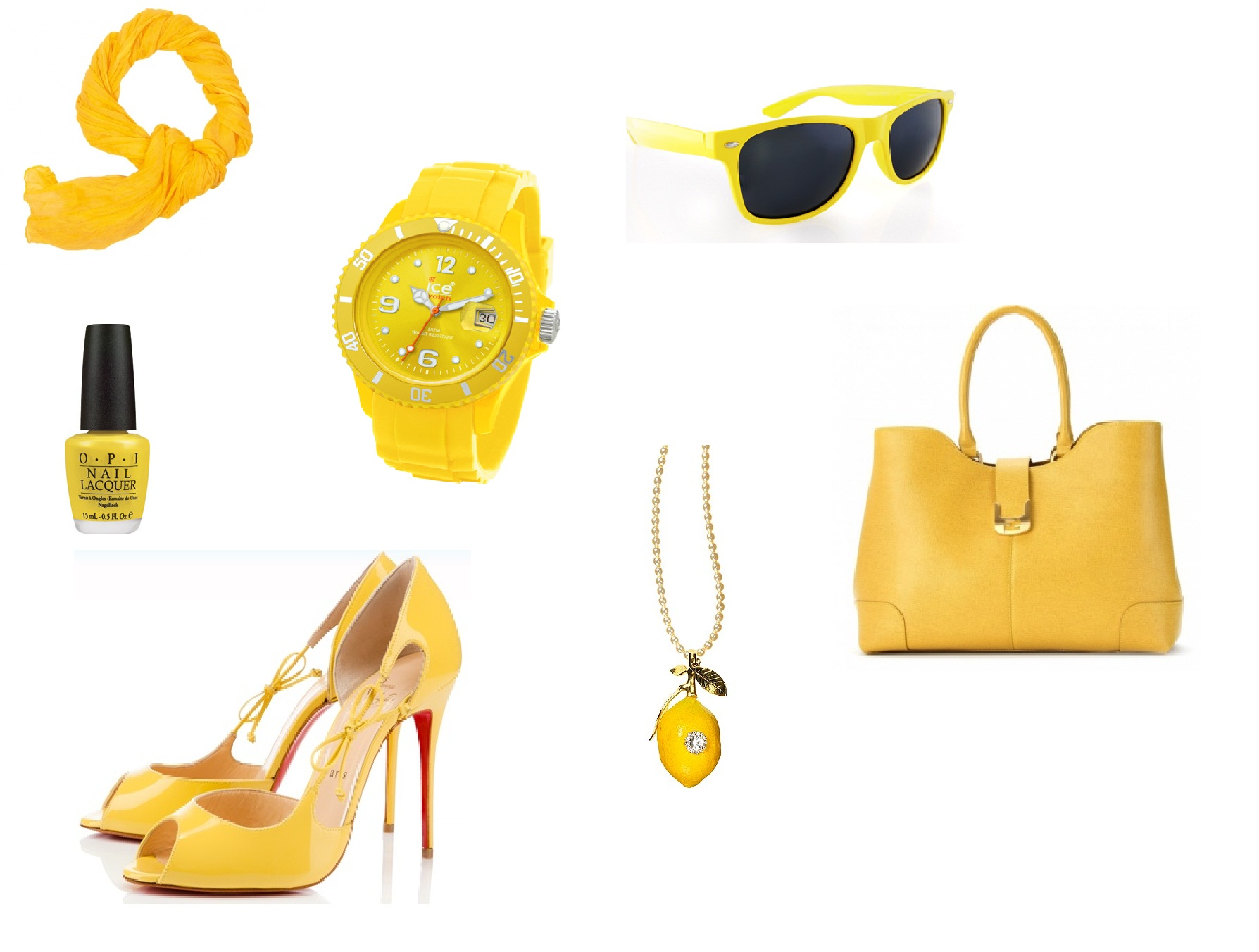 accessoires jaunes