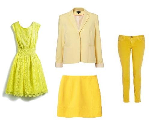 vêtements femme jaunes