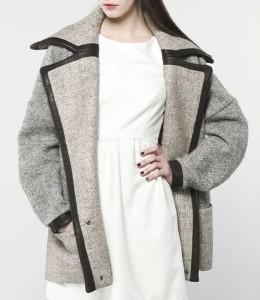 sélection de veste et manteau oversize avec des détails en simili-cuir ou vrai cuir