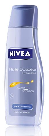 huile douceur hydratante de nivea pour les peaux sèches