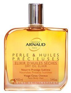 huile sèche de l'institut arnaud, perle et huiles précieuses pour peau sèche
