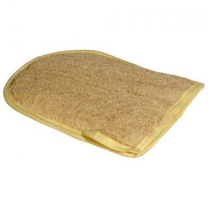 gant en loofah pour le gommage et l'exfoliation du corps