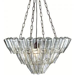 luminaire design lampe suspendue avec bouteilles en verre décor