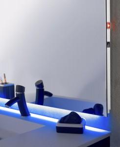 miroir anti buée lumineux de salle de bain idée déco