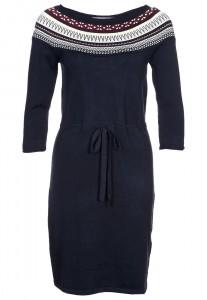 robe pas cher courte de chez mint berry sur zalando robe pull bleu foncé motif hiver