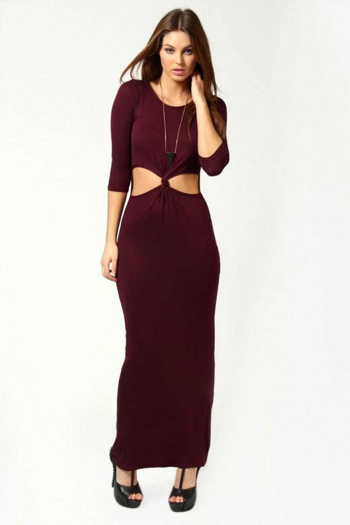 photo de robe longue pas cher de boohoo