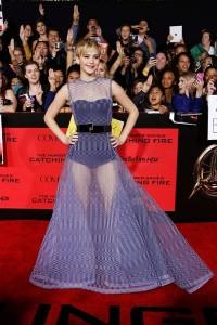 Le body transparent par Jennifer Lawrence