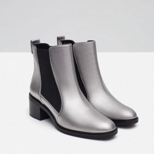 chaussure zara argenté Nouvel An