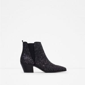 chaussure zara glitters noir