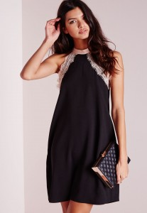 robe noir bustier fête pas cher