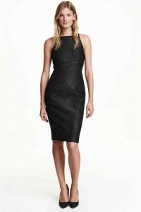 robe h&m noir paillette fête