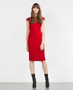 robe zara rouge fête