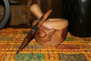 Couteau Laguiole avec mortier et pilon