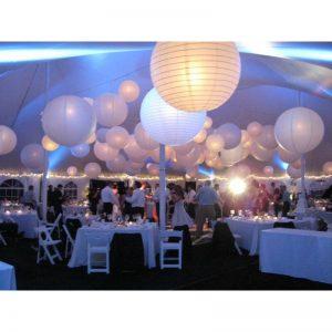 des lampions boule en papier pour décorer son mariage