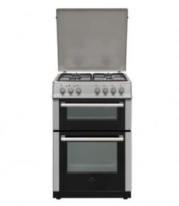 Cuisiniere gaz 60x60 Double fours électrique Multi cata + CN - 4 feux Inox