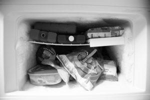 intérieur de congélateur