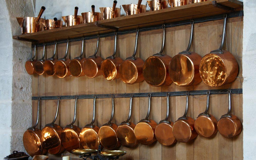 Set de casseroles en cuivre